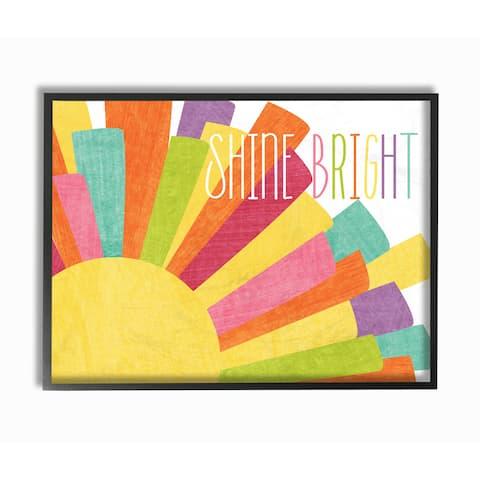 Stupell 'Shine Bright' Framed Giclee Texturized Art