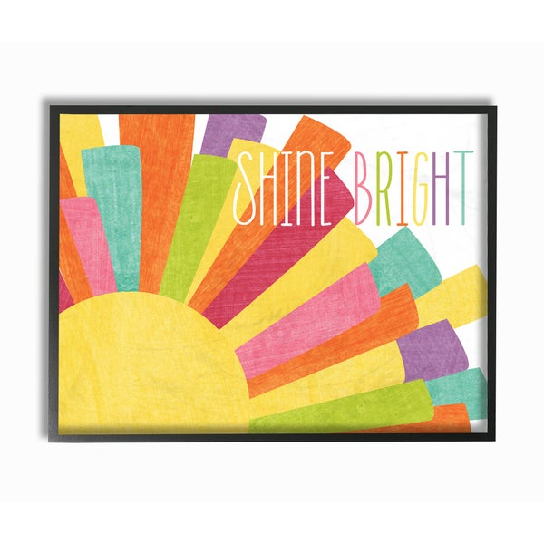 Stupell 'Shine Bright' Framed Giclee Texturized Art. Opens flyout.