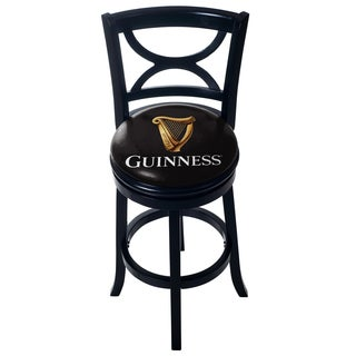 Guinness Swivel Wood Bar Stool with Back (3 options available)