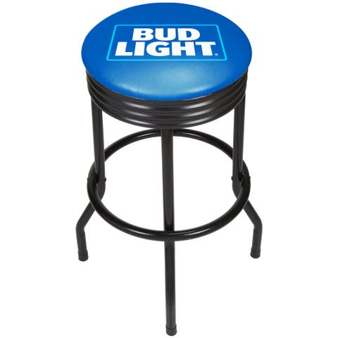 Bud Light Ribbed Bar Stool