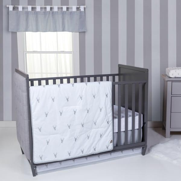 Shop Trend Lab Stag Head 3 Piece Crib Bedding Set Free