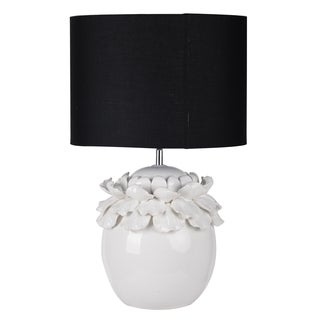 Keene Black Shade Ceramic Lamp