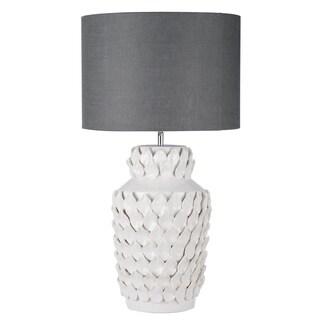 Keene Grey and White Ceramic Lamp