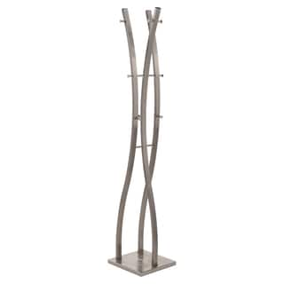 Neil Brushed Nickel Metal Coat Rack