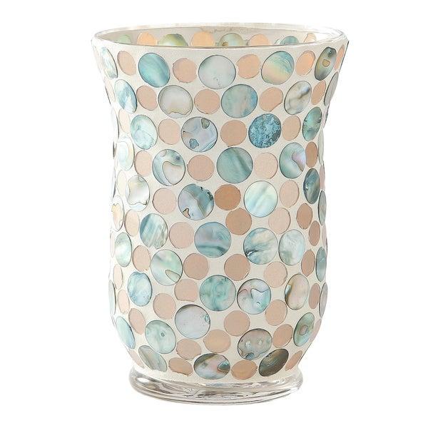 Shop Multicolor Glass 55 Inch X 8 Inch Mosaic Fashion Vase Free