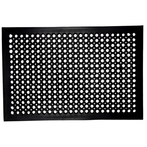 Celebration Ramp Restaurant Black Rubber 2-piece Mat Set