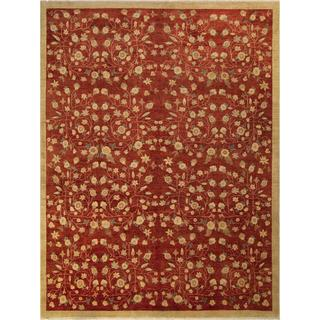 Arshs Fine Rugs Kafkaz Peshawar Antonia Red/Gold Wool Hand-knotted Area Rug - 10' x 14'