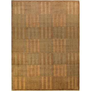Arshs Fine Rugs Kafkaz Peshawar Krystal Light Brown/Light Brown Hand-knotted Wool Rug - 10' x 14'