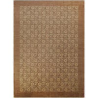 Arshs Fine Rugs Hand-knotted Kafkaz Peshawar Traci Light Brown Wool and Natural Fiber Rug - 10' x 14'