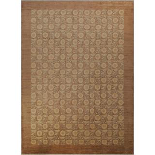 Arshs Fine Rugs Hand-knotted Kafkaz Peshawar Traci Light Brown Wool and Natural Fiber Rug (10'1 x 13'10)