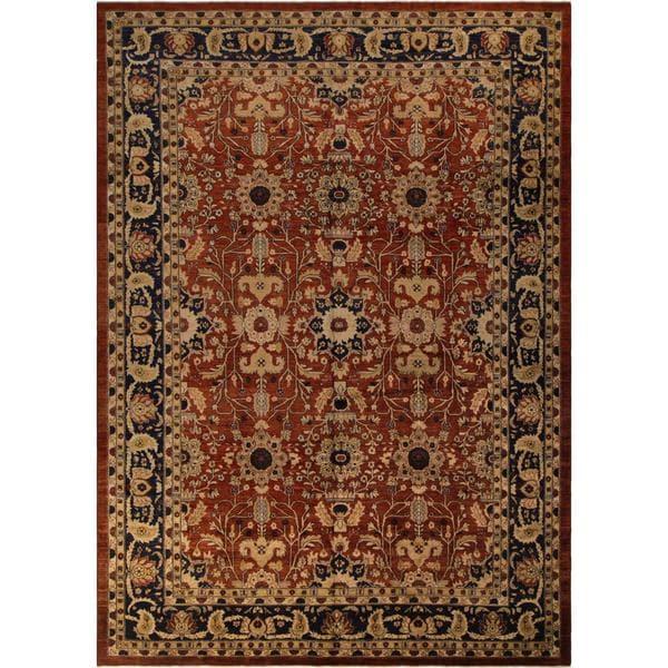 Arshs Fine Rugs Hand-knotted Kafkaz Peshawar Bridget Red/Blue Wool and Natural Fiber Rug - 10' x 14'