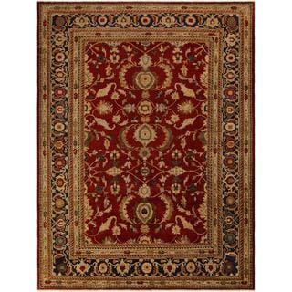 Arshs Fine Rugs Hand-knotted Kafkaz Peshawar Lola Red/Blue Wool and Natural Fiber Rug - 10' x 14'