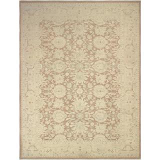 Arshs Fine Rugs Kafkaz Cami Sun-Faded Light Brown and Tan Wool Hand-knotted Rug (8'11x11'11)