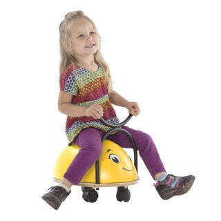 Happy Trails Ride-on Roller Rider Bug with Cushioned Seat and Wooden Hand Grips