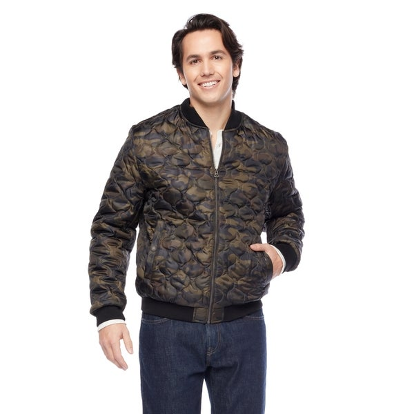 047862201 Shop Lucky Brand Men's 26-inch Printed Quilted Camo Bomber Jacket ...