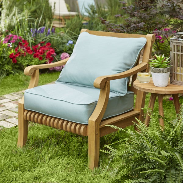 Kokomo Lounge Pillow and Cushion Set with Solid Sunbrella Fabric - 23.5 in w x 23 in d. Opens flyout.
