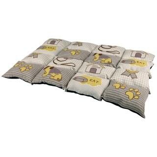 Patchwork Beige Quilted Pet Bed