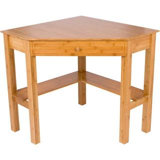 """42"""" Bamboo Corner Computer Desk with Drawer by Trademark Innovations"""