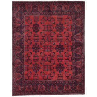 eCarpetGallery Finest Khal Mohammadi Brown Wool Hand-knotted Rug (5' x 6'5)