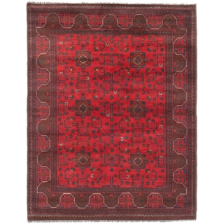eCarpetGallery Finest Khal Mohammadi Red Wool Hand-knotted Rug (5'1 x 6'5)