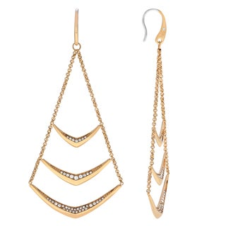 Michael Kors Goldtone Stainless Steel Crystal Chandelier Drop Dangle Earrings