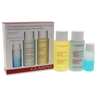 Clarin Cleansing Essentials 3-piece Face and Eyes Set