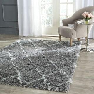 Safavieh Moroccan Shag Grey/ Ivory Rug (8' x 10')