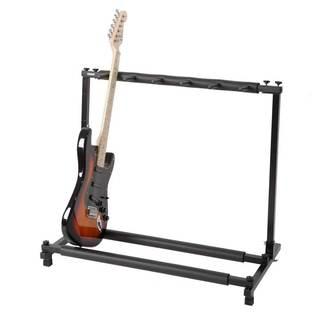 Triple Folding Multiple Guitar Holder Rack Stand Black