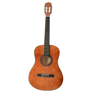 "38"" Acoustic Guitar Brown, Pick, Chord"