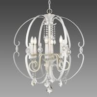 Ella French White 6-light Chandelier