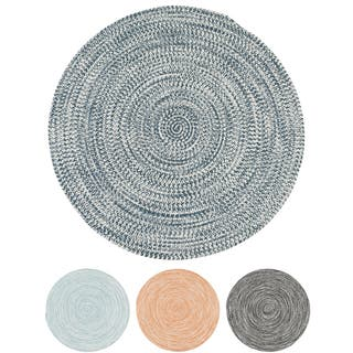 Colonial Mills Boatside Multicolor Tweed Round Indoor/ Outdoor Reversible Braided Rug (6' Round)|https://ak1.ostkcdn.com/images/products/16381341/P22733030.jpg?impolicy=medium