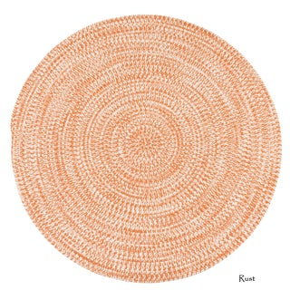 Colonial Mills Boatside Multicolor Tweed Round Indoor/Outdoor Reversible Braided Rug (5' Round) - 5' x 5' (Option: rust)