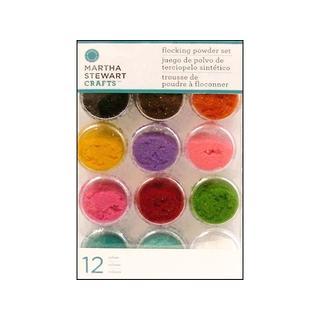 Martha Stewart Glitter 12pc Flocking Powder