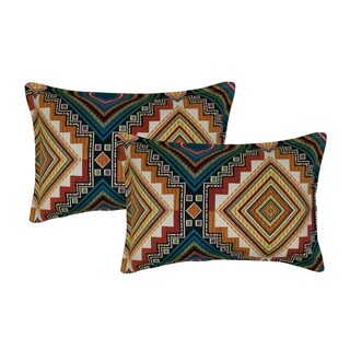 Sherry Kline Aliso Creek Emerald Boudoir Decorative Throw Pillow (set of 2)