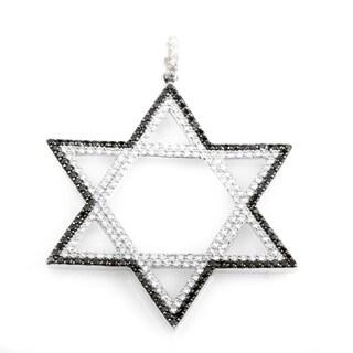 14K White Gold Multi-Diamond Star of David 2.0 ct TDW Pendant MFC07-052213