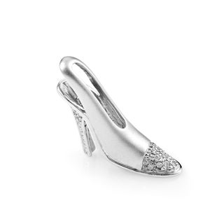 Women's 14K White Gold Diamond Stiletto Pendant PSB03-122914