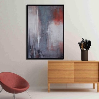Framed prints with hand painted texture 'Happy Ending-1' Gallery-wrapped Canvas Art Set