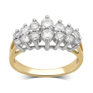 Divina 14K Yellow Gold 1.0ct TDW Diamond Anniversary Ring. (H-I/I2-I3)