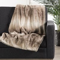 Denali Faux Fur Tan Throw