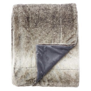 Denali Faux Fur Gray Throw