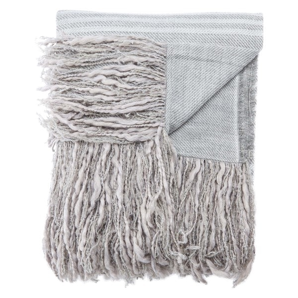 Cadence Stripe Gray Throw