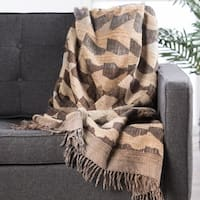 Alder Abstract Brown Throw