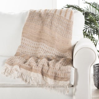 Pearl Stripe Beige Throw