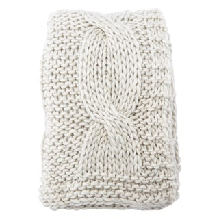 Nikki Chu by Jaipur Living Karena Chunky Knit Light Gray Throw