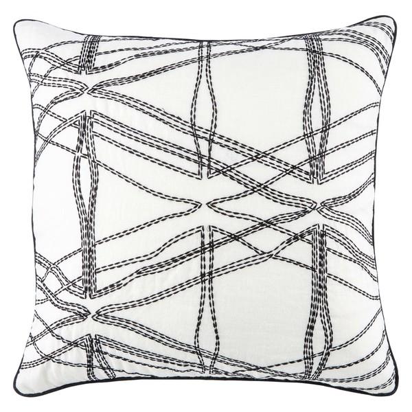 db58ed9925 Nikki Chu Astelle Geometric White/ Black Throw Pillow