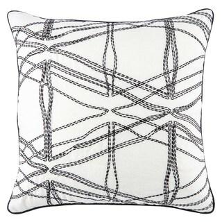 Nikki Chu Astelle Geometric White/ Black Throw Pillow