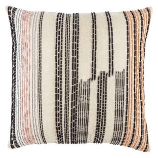 Nikki Chu by Jaipur Living Aegean Geometric Pink/ Black Throw Pillow