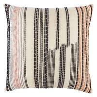 Nikki Chu by Jaipur Living Aegean Geometric Pink/ Black Throw Pillow