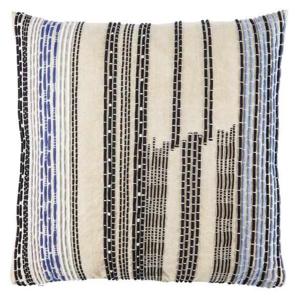 bb84c2b555 Nikki Chu Aegean Geometric Blue/ Black Throw Pillow