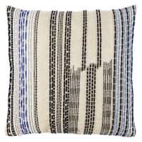 Nikki Chu Aegean Geometric Blue/ Black Throw Pillow